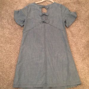 Madewell bow back chambray Dress xxs